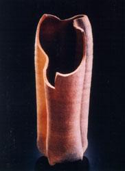 """Cut Top Vase: 11""""(h) + 4""""(w) + 4""""(d)"""