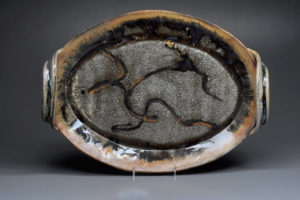 "Gazelle Oval Platter Stoneware Clay 5""ht x20""w x 16""d"