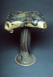 "Pedestal Table: 26""(h) + 18""(w) + 14""(d)"