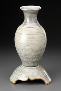 Chattered Vase with Base