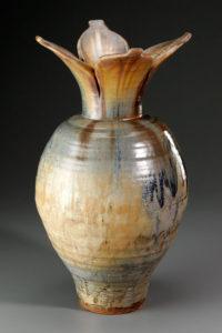 Lotus Vase: 18″ (h) + 10″(w) + 10″(d)