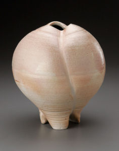 Natural Ash Paddled Vase